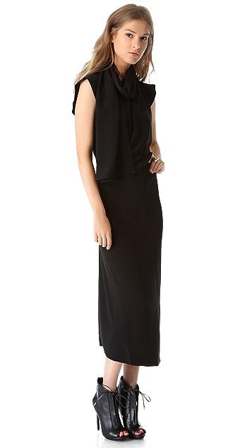 Willow Asymmetrical Drape Dress