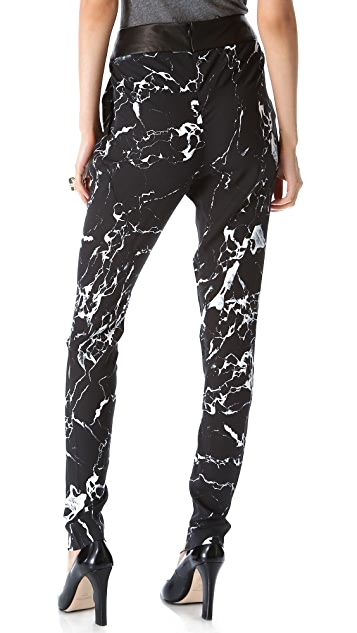Willow Tuck Drape Print Pants
