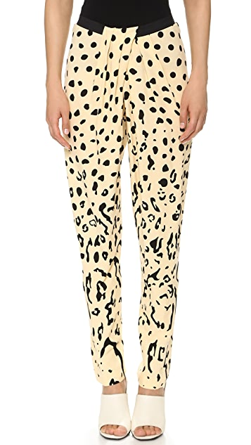 Willow Print Draped Pants