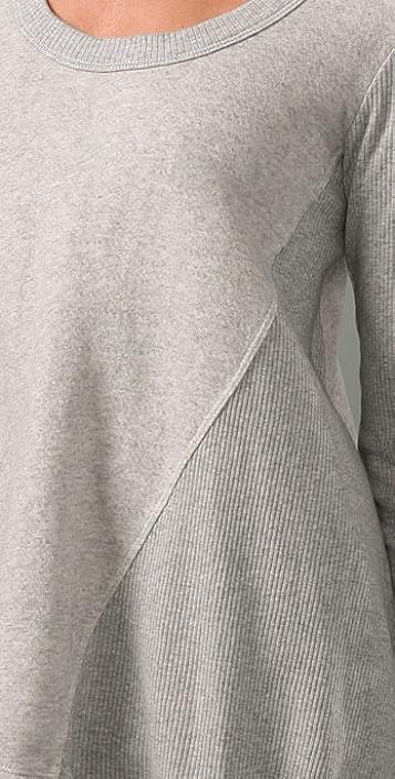 Wilt Distressed Vintage Fleece Hi Lo Top