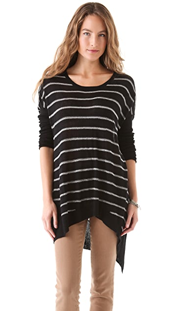 Wilt Stripe Big Slant Sweater