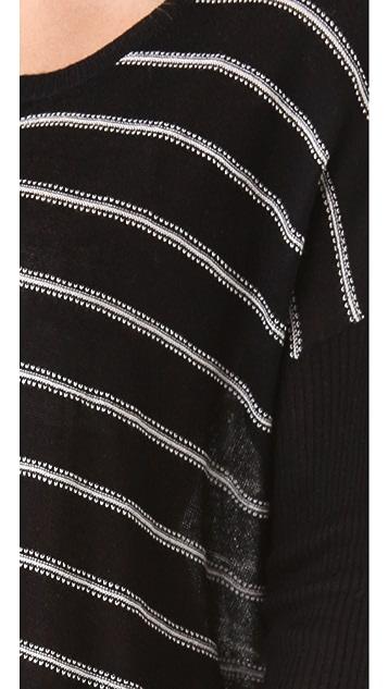 Wilt Stripe Big Slant Sweater