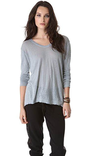 Wilt Easy Raw T-Shirt with Long Sleeves
