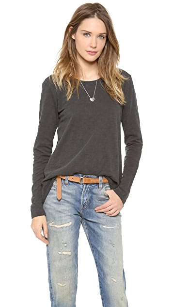 Wilt Long Sleeve Easy Crew Neck Top