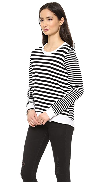 Wilt Baby Mix Stripe Sweatshirt
