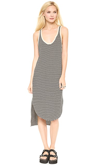 Wilt Rugby Stripe Linen Tank Dress