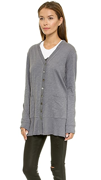 Wilt Long Lean Slub Cardigan