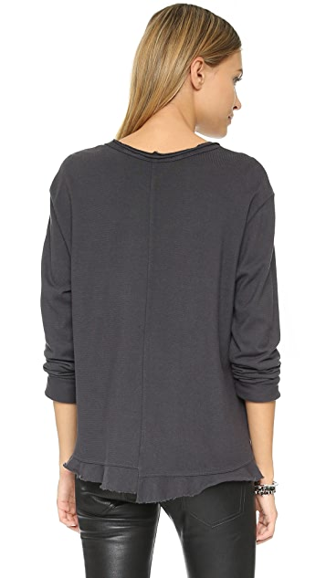 Wilt Big Ruffle Long Sleeve Tee