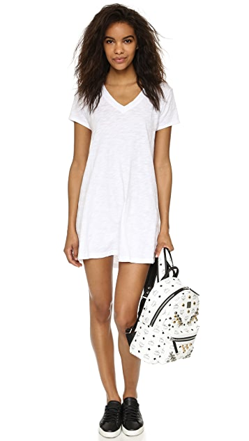 Wilt V Neck Trapeze T Dress