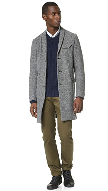 Wings + Horns Knit Wool Topcoat