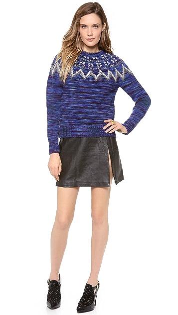 WINSTON WOLFE Crazy 88 Split Leather Skirt