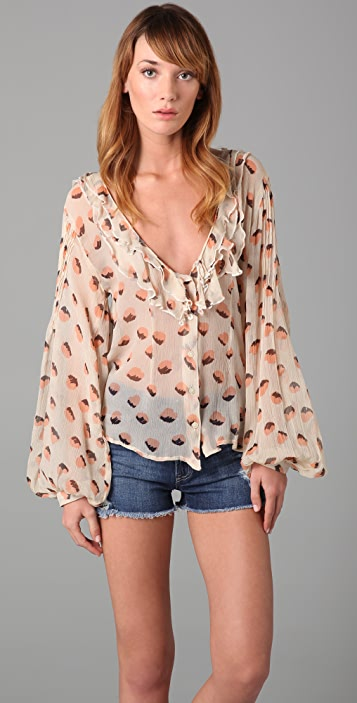 Winter Kate Print Cooper Blouse