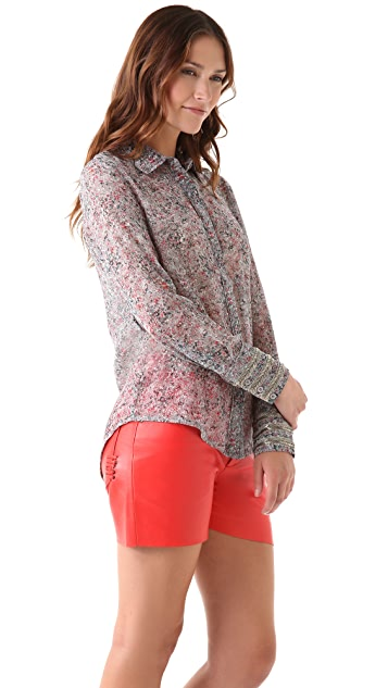 Winter Kate Silk Print Top