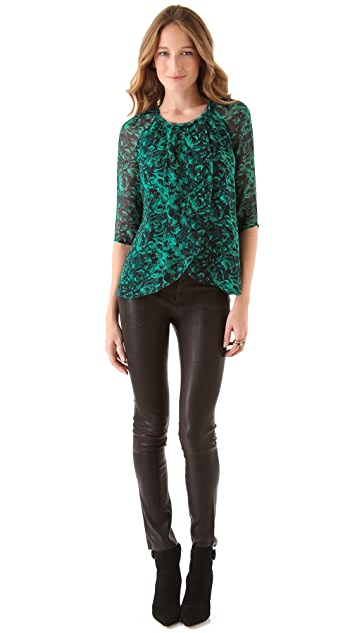 Winter Kate Chiffon Top with Underlayer