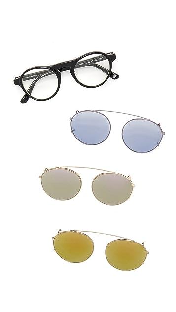 Westward Leaning Dyad 1 Clip Sunglasses