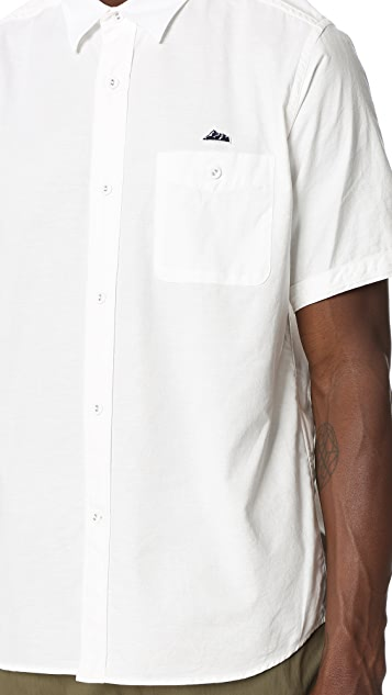 White Mountaineering Oxford Half Sleeves Shirt