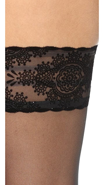 Wolford Glam Stay Up Tights