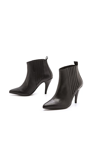 Won Hundred Platinum Point Toe Booties