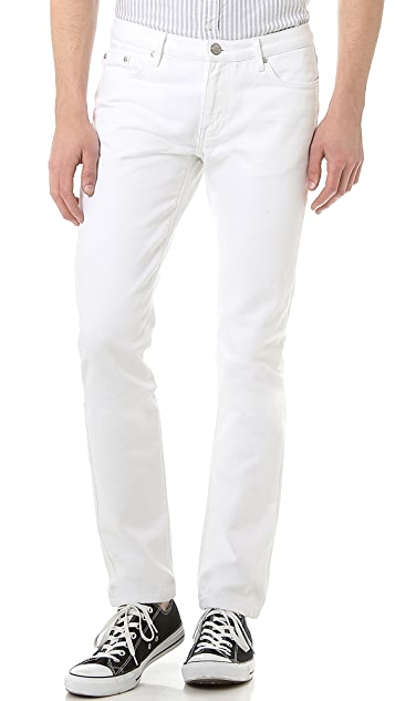 Won Hundred Dean White Slim Jeans