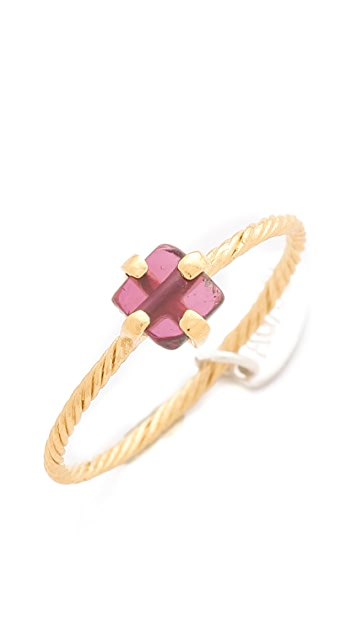 Wouters & Hendrix Rhodolite Dot Ring