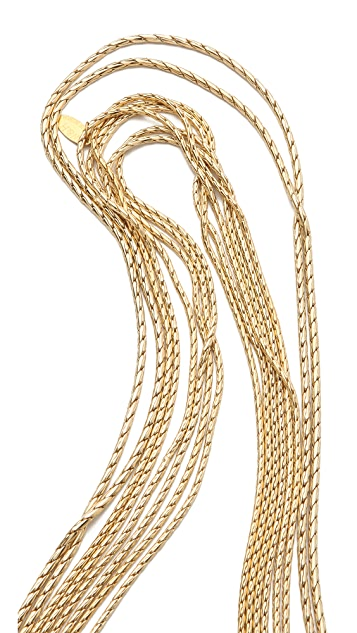 Wouters & Hendrix 8 Strand Gold Chain Layered Necklace