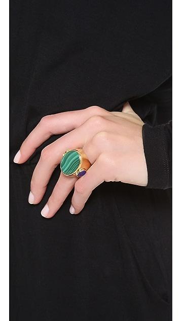 Wouters & Hendrix Malachite & Lapis Oval Ring