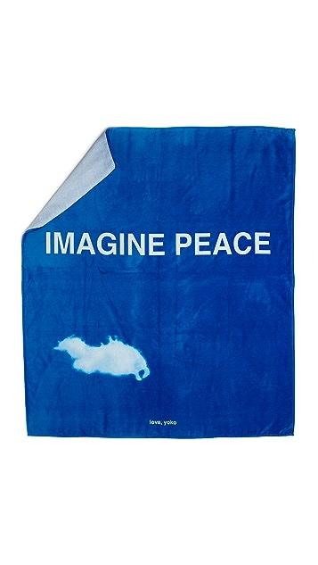 WOW! Yoko Ono Double Beach Towel