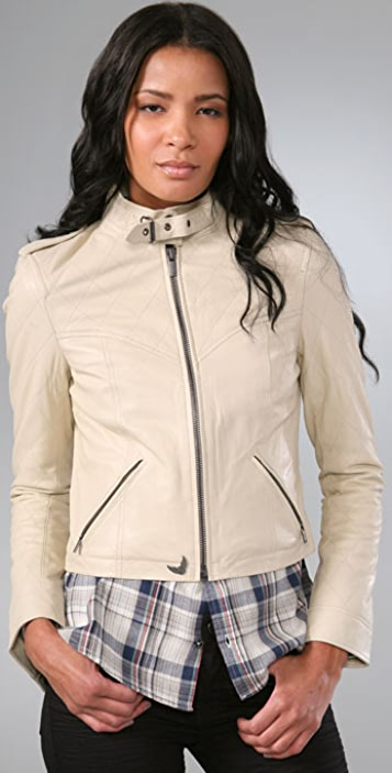 William Rast Quilted Leather Jacket