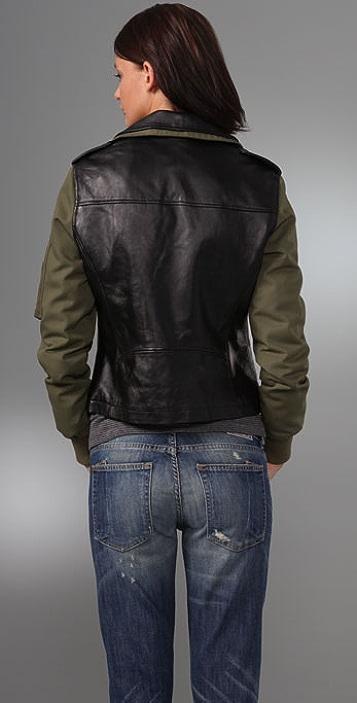 William Rast Runway Combo Leather Jacket