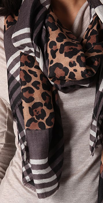 YARNZ Leopard Plaid Scarf