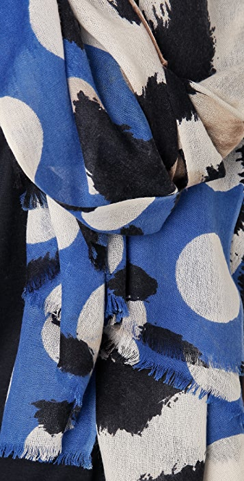 YARNZ Leopard Dots Cashmere Scarf