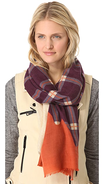 YARNZ Knit Plaid Scarf