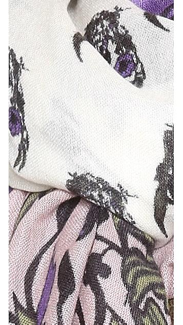 YARNZ Flower Skull Cashmere Scarf