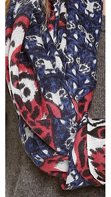 YARNZ Leopard Stripes Cashmere Scarf
