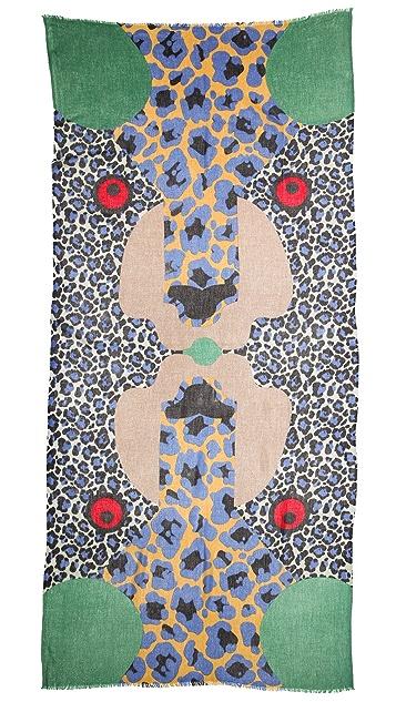 YARNZ Leopard Face Cashmere Scarf