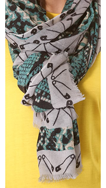 YARNZ Snakes & Safety Pins Scarf