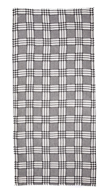 YARNZ Glen Plaid Cashmere Scarf