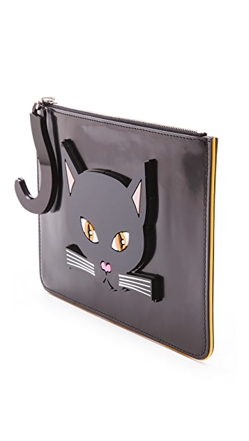 Yazbukey Black Cat Clutch