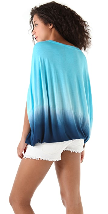 Young Fabulous & Broke Sunset Ombre Bubble Top