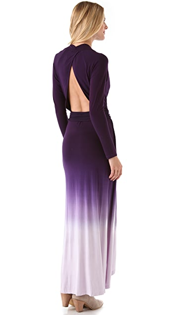 Young Fabulous & Broke Bardot Ombre Maxi Dress
