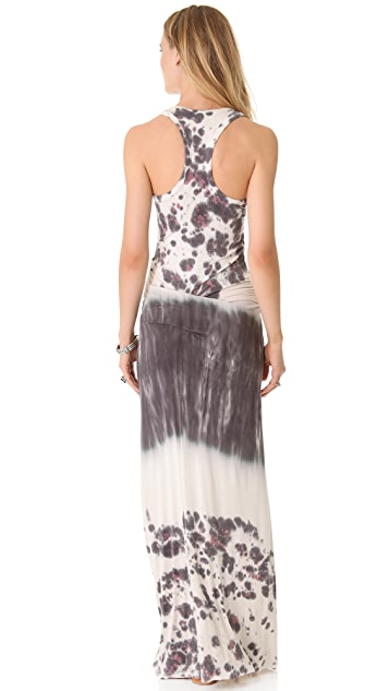 Young Fabulous & Broke Hamptons Watercolor Border Maxi Dress