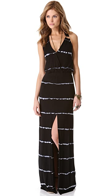 Young Fabulous & Broke Garnet Striped Maxi Dress