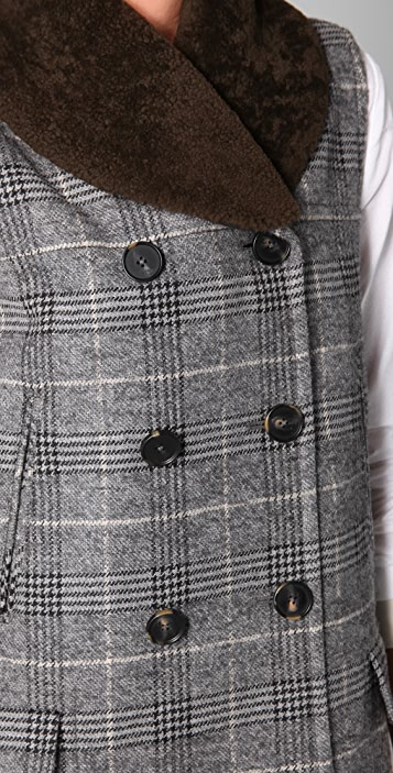 Yigal Azrouel Grand Check Vest