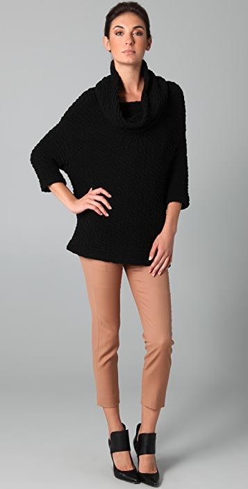 Yigal Azrouel Cowl Neck Cloque Sweater