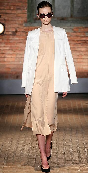 Yigal Azrouel Silk Midi Shirtdress