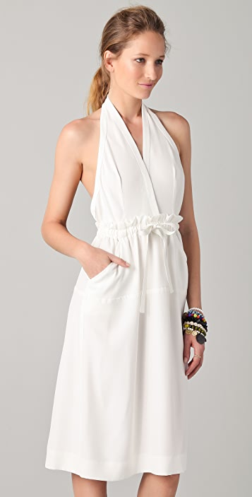 Yigal Azrouel Halter Dress with Open Back