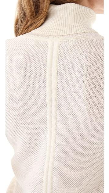 Yigal Azrouel Waffle Knit Turtleneck Sweater