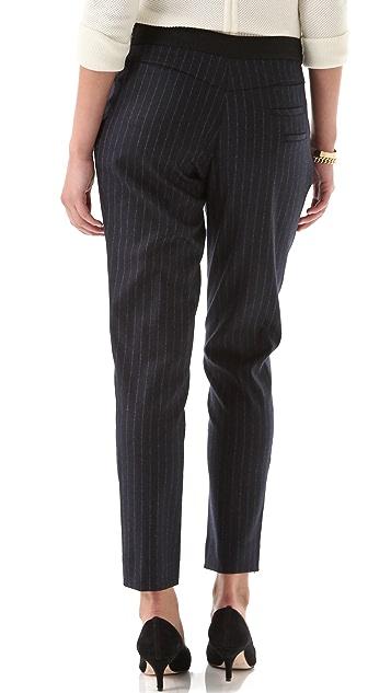 Yigal Azrouel Pinstriped Wool Pants