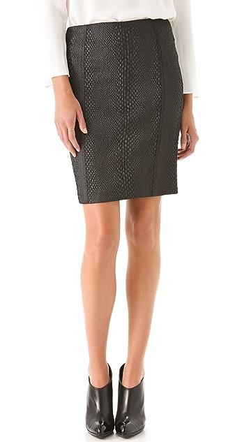 Yigal Azrouel Python Pencil Skirt