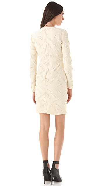 Yigal Azrouel Tonal Jacquard Dress